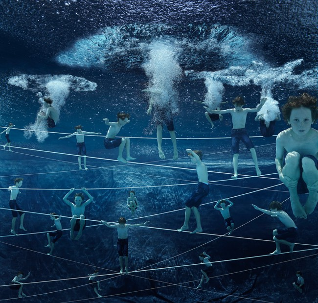 «Das Netz – Jonas» | 126cm x 120cm | © Gaby Fey