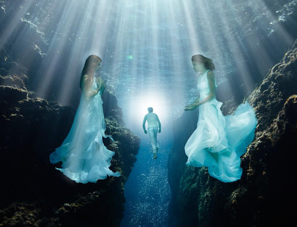 «Weg ins Licht» | 170cm x 130cm | © Gaby Fey